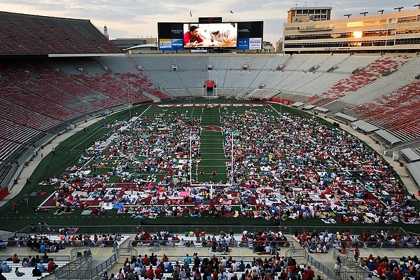 Photo: Movie night at Camp Randall