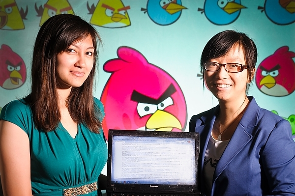 Photo: Anjali Narayan-Chen (left) and Liqi Xu (right)