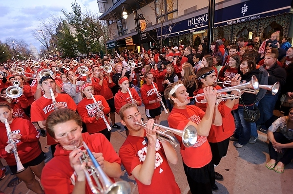 Photo: marching band in Homecoming parade