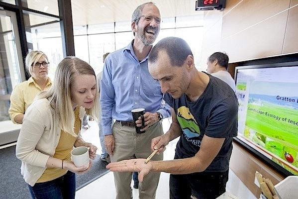 Photo: Claudio Gratton at Wisconsin Energy Institute Teatime