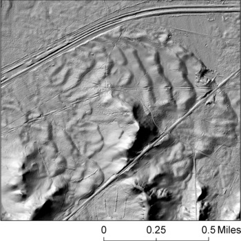 Photo: laser image of sand dunes