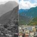 Photo: old and recent views of town of Danza