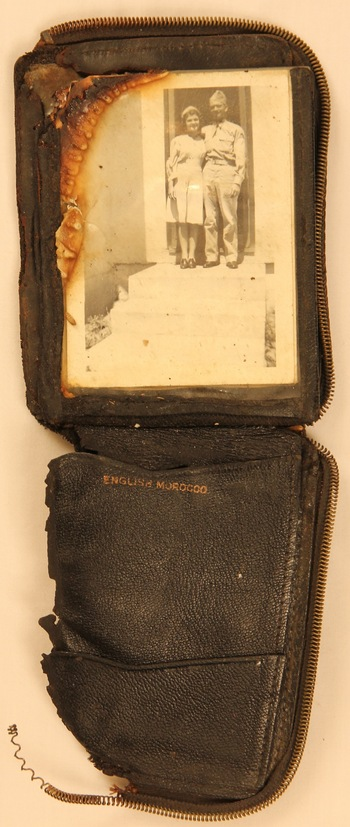 Photo: wallet with photo of Pfc. Gordon and girlfriend