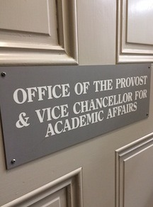 Provost's office door