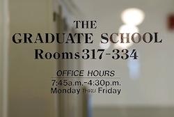 Graduate School door