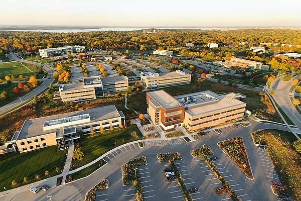 Photo: aerial view of research park