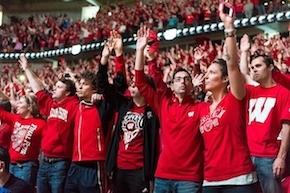 Fans sing Varsity