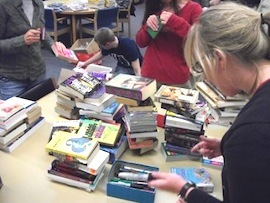 Jail Library Group sorts books
