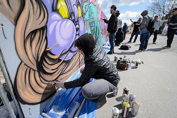 Graffiti art at Revelry