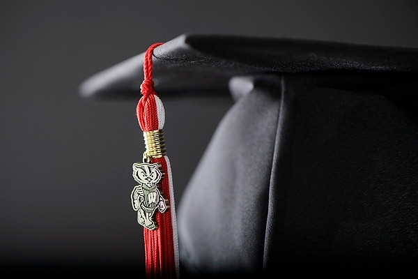 Mortarboard and tassel