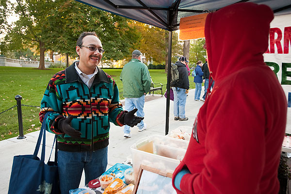 Photo: Alfonso Morales at Dane County Farmers' Market