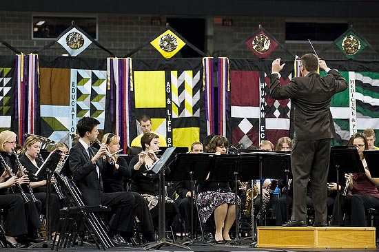 The UW-Madison Wind Ensemble performs