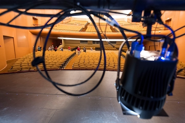 Photo: stage lighting in Shannon Hall of Wisconsin Union Theater