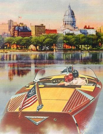 Illustration: Boat on Lake Monona