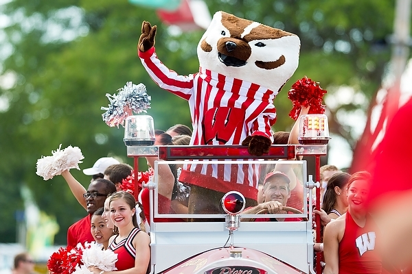 Photo: Bucky Badger at the state fair in 2013