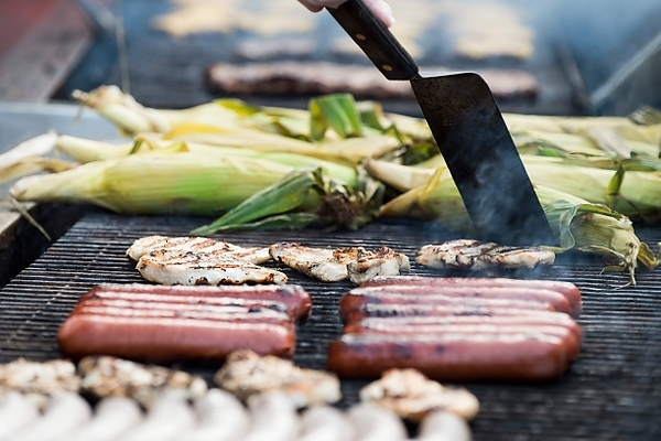 Photo: food on grill