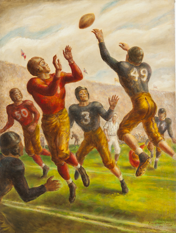 An All American, Oil on canvas, 1941