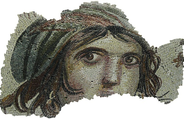 """Gypsy Girl,"" one of many mosaics recovered from Zeugma"