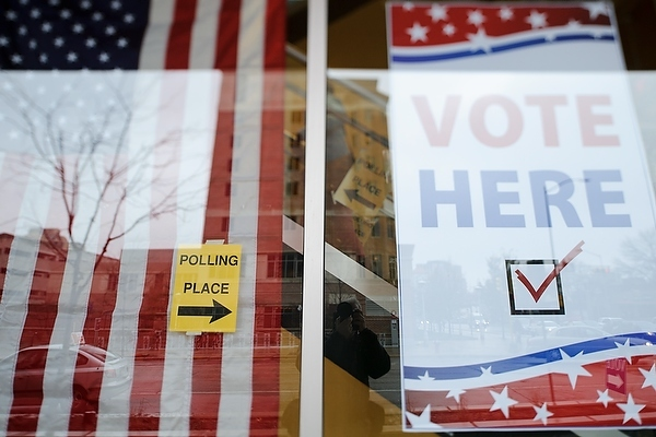 Photo: Signs for polling place