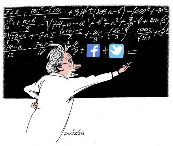 Illustration: Professor in white coat writing on blackboard