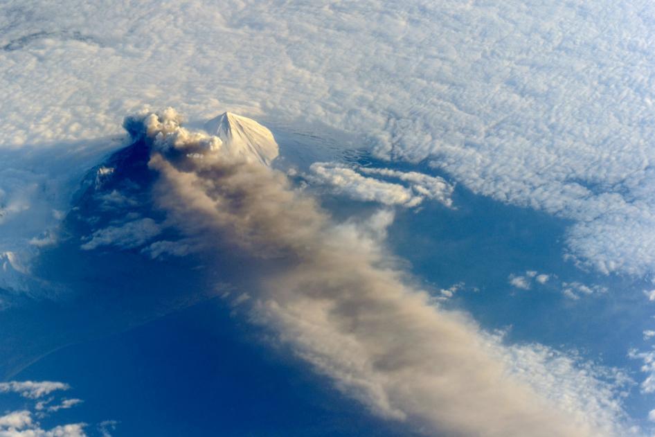Photo: Alaskan volcano viewed from satellite