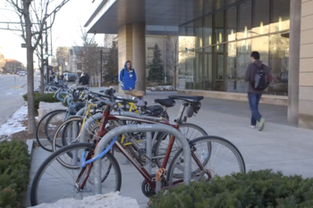 Photo: Campus bike rack