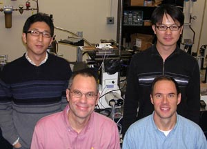 Photos of the members of Ediger's Wisconsin research team.