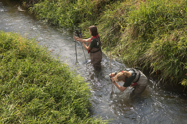 Photo: Surveying Pecatonica River