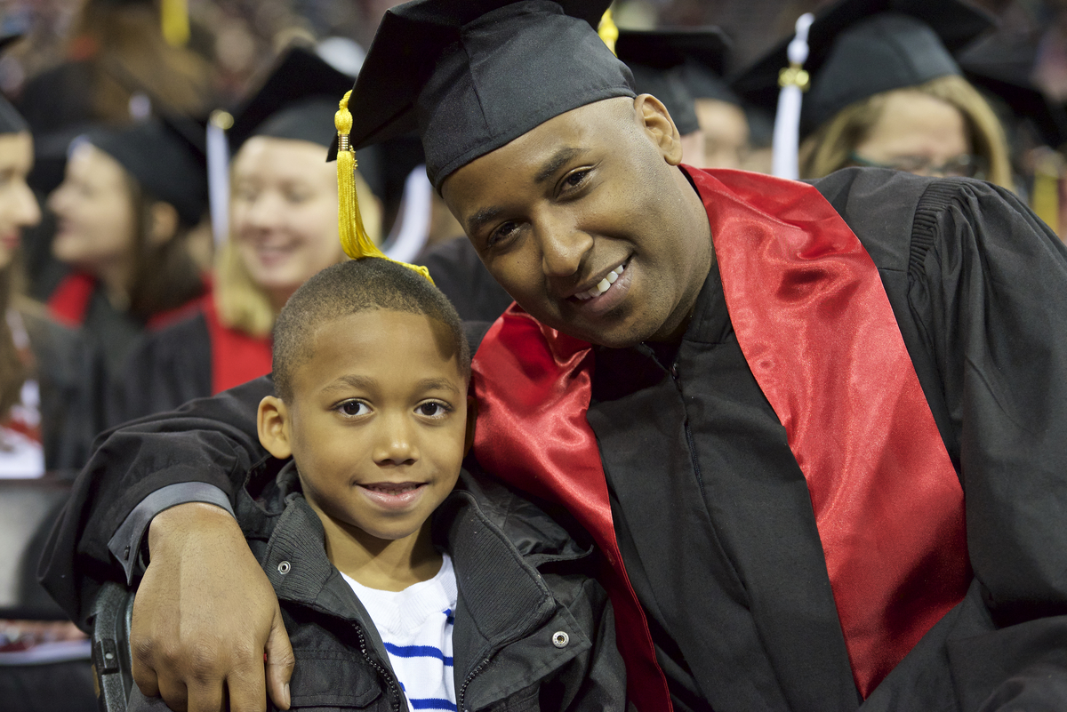 Photo: LaMar and Jayden Campbell