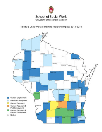 Graphic: Map of Wisconsin counties where social work grads work
