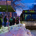 Photo: Passengers boarding bus in the snow