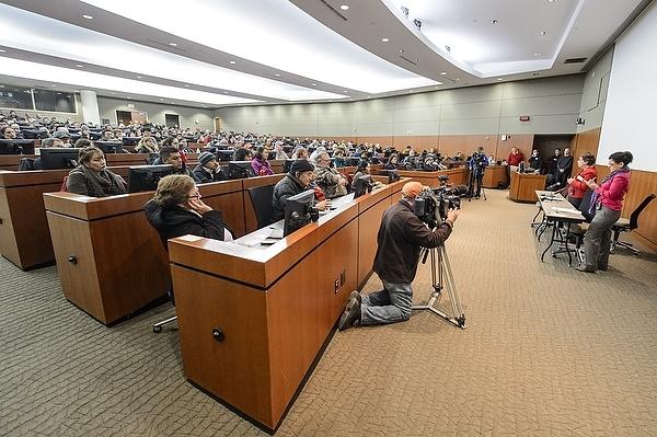 Photo: Capacity crowd in auditorium