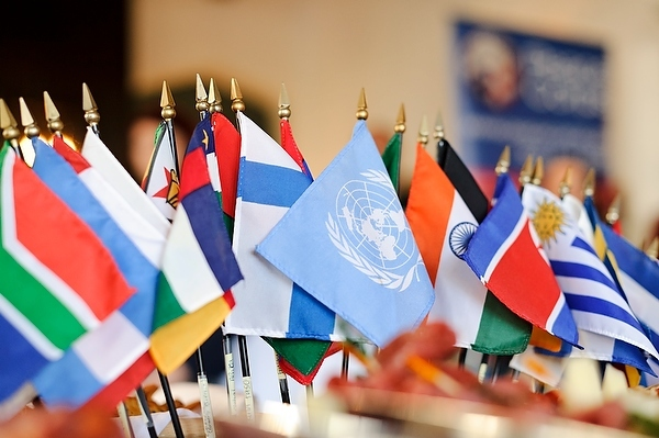 Photo: Collection of international flags